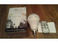 Bluetooth led lightbulb speaker