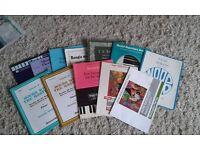 12 piano music books Grades 3 _ 6? Including Microjazz, 24 Preludes and Fugues..