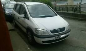 Vauxhall Zaferia Comfort for sale spares/repairs
