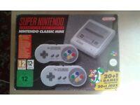 super nintendo classic mini with 2 controllers