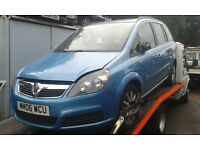 2006 Vauxhall Zafira B 1.6 Club blue 04L 80U 20N 673H manual BREAKING FOR SPARES