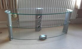TV STAND -- CLEAR GLASS