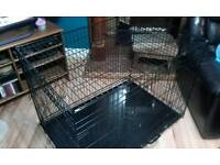 Extra large 2 door dog crate -106cm x 70.5cm x 78.5cm