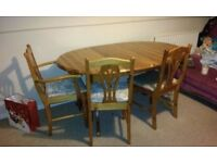 extendable extending table with chairs pine table 4-6-8 seater table