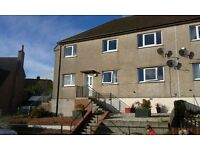 3 Bed lower flat with rural outlook and secluded rear garden
