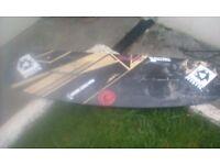 Kitesurfing board wake board