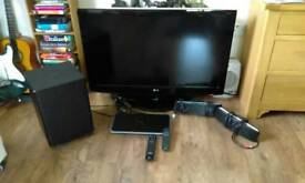 "42"" LG Plasma TV with HTS"
