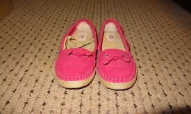 UGG Chivon Women Leather Moccasin Flats 1004111 Pink UK Size 5.5 New