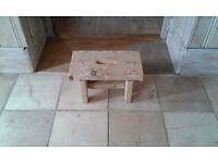 RECLAIMED WOOD SCAFFOLD BOARD STOOL COFFEE TABLE BEDSIDE TABLE CHILDS BENCH ETC