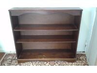 Dark Wood Bookshelf - DELIVERY AVAILABLE