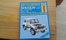 mitsubishi Shogun workshop manual