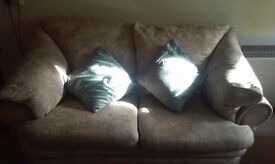 Quick sale 3 seater and 2 seater couches with matching puffee