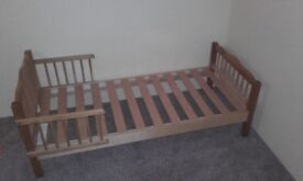 Solid wood junior bed approx 147cm/72cm