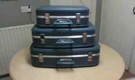 Set of three Genuine Retro Cases/ Suitcases (used)