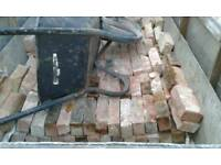 Vintage handmade victorian bricks