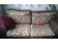 Three sofas 2 fabric one leather good contion need to get rid of asap