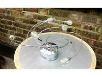 Poole Lighting Modern 6 Light Spiral Flush Fitting Chrome Ceiling Light