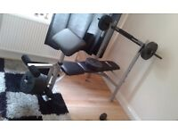 Pro fitness weight bench with weights,sensible offers considered