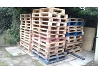 WOODEN PALLETS for sale £5 x 1. CAN DELIEVER conatct us for more info.