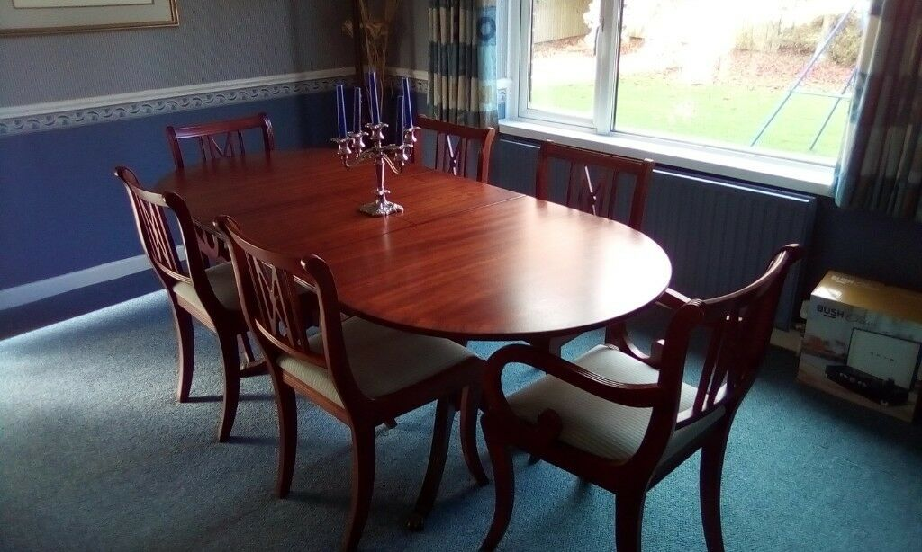 Solid Mahogany Dining Table 6 Matching Chairs In Newtownards