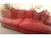 Large red couch