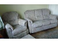 3 Seater Sofa, Matching Chair and Footstool