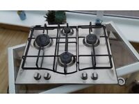 Hotpoint stainless steel gas hob. Four burners. In good condition