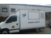 Mobile fish and chip catering van