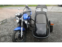 Kawasaki ER5 and Sidecar, great learner outfit or winter ride.
