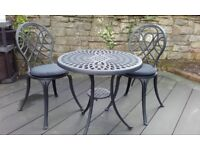 TABLE AND 2 CHAIRS FOR GARDEN/CONSERVATORY