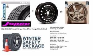 2017 honda civic sport si 17 winter rims n tire package