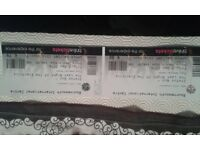 2 x Status Quo Tickets Upper balcony BIC 9th December