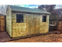 Wooden Garden apex shed 12' x 8'