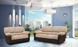 SALE PRICE SOFAS:: Classic design sofas, available as a 3+2 seater set or corner. FABRIC & LEATHER