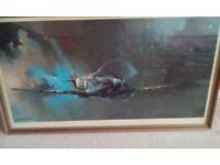 Spitefire print in frame