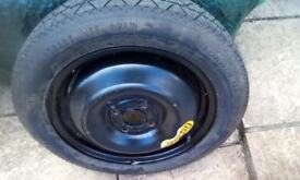 Spare emergency wheel and tyre off a mgzr unused