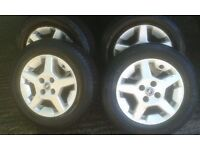 Fiat 4 Stud Alloy Wheels Fair Condition with 4 nearly new 175.70.14 Tyres