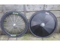 pair carbon disk wheels 9 10 11 speed