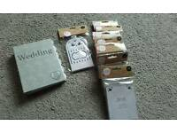 Brand new wedding planner, invites & table numbers