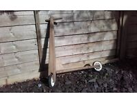 Vintage handmade wooden scooter