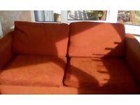 Sofa bed john lewis red
