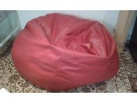 Huge Red Faux Leather Bean Bag - DELIVERY AVAILABLE