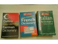 Dictionary x3 Easy Learning German, Easy Learning French & Italian Dictionaries
