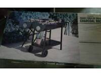 Double sided oil drum charcoal BBC boxed , new