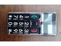 Large button mobile phone. Hardly used. Boxed and with charger.