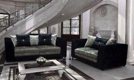 ***New dylan crushed velvet sofas***