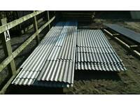 New corrogated iron sheets. Sizes start from 5ft to 18ft (Plastic coated) .