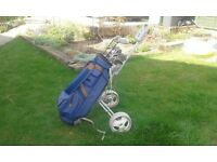 Golf set with bag and trolley