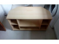 2 Chipboard Units - Coffee Table and TV Unit - Light Colour - Good Condition - FREE