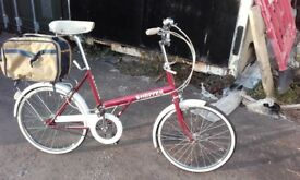 MINT as- new 1981 Raleigh twenty 20 shopper full renovated (£200)- MINT NOS retro town ladies gents